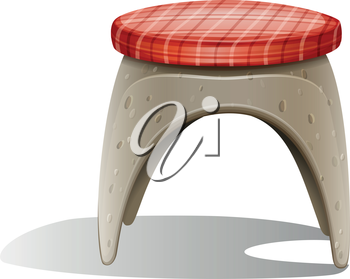 Illustration of a chair on a white background