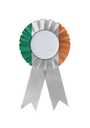 Award ribbon isolated on a white background, Ireland