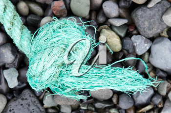 Fishing nets on a beach ready to be cast overboard for a new days fishing