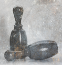 Children's toys, isolated on a vintage background