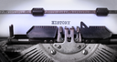 Vintage inscription made by old typewriter, History