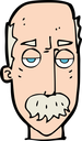 Royalty Free Clipart Image of a Bald Man