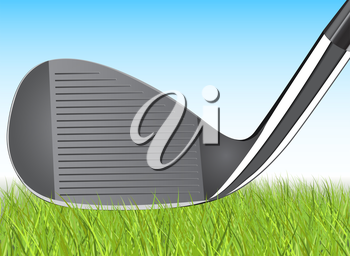 Realistic golf iron club Illustration