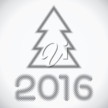 Halftone dots Christmas pattern in vector format. 2016 New Year pattern.