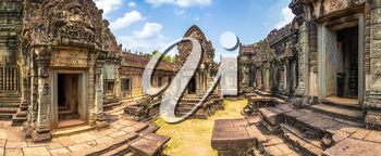 Panorama of Banteay Samre temple in complex Angkor Wat in Siem Reap, Cambodia in a summer day