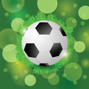 colorful illustration with  sport ball on a green background for your design