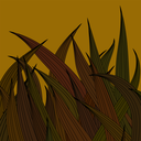 Brown Wave Background. Abstract Brown Wave Pattern