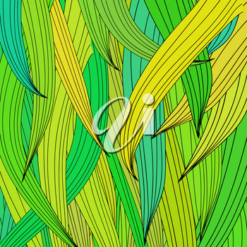 Green Wave Background. Abstract Green Wave Pattern