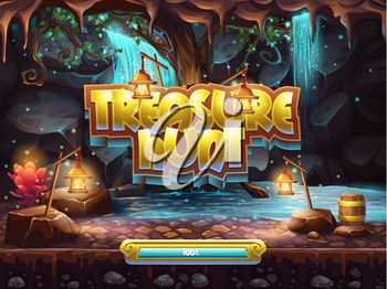 Example of the boot screen to play treasure hunt
