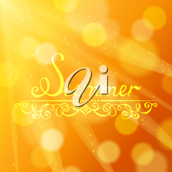 Yellow defocused background. There is place for your text.