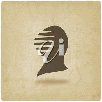 helmet icon old background - vector illustration. eps 10