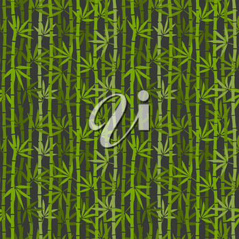 green bamboo seamless pattern. vector illustration - eps 8