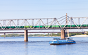 water and railroad transport on dnieper river