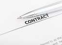 sales contract and silver pen close up