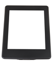 e-book reader with cut out screen isolated on white background