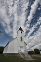Country Church with Dramatic Sky Manitoba Canada