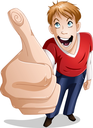 Royalty Free Clipart Image of a Young Man