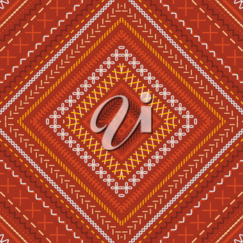 Vector high detailed stitches. Embroidery boundless texture. Can be used for web page backgrounds, wallpapers, wrapping papers and invitations.