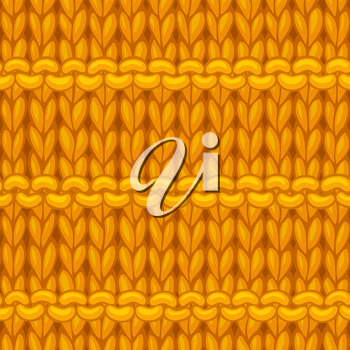 Hand-drawn yellow jersey cloth boundless background. High detailed cotton hand-knitted fabric material.
