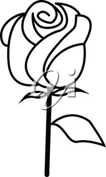 Simple thin line rose icon vector
