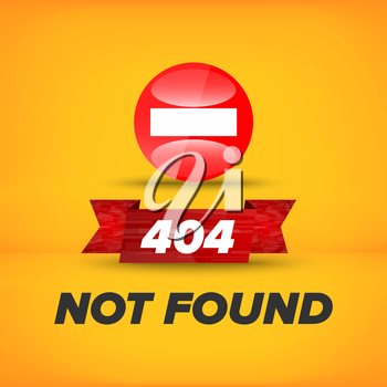 Not found sign template for web design