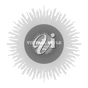 Vintage style star burst, retro style element for your design, vector illustration.