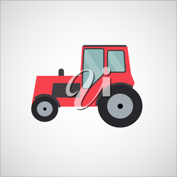 Ftat Tractor Vector Illustration EPS10