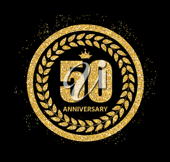 Template 50 Years Anniversary Vector Illustration EPS10