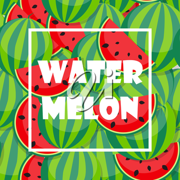Background from green Watermelon. Vector Illustration. EPS10