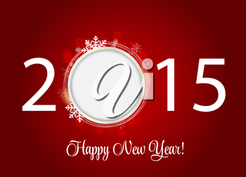 Abstract Beauty 2015 New Year Background. Vector Illustration. EPS10