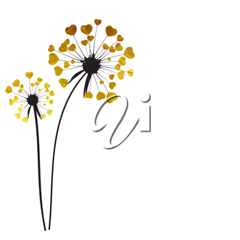Abstract Dandelion Background Isolated Vector Illustration EPS10
