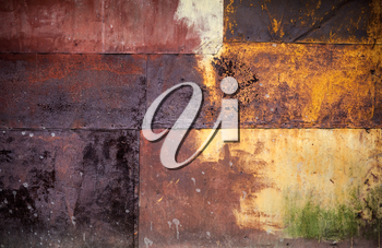 Rusted colorful metal wall detailed grunge photo texture