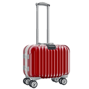 Red luggage for travel. 3D graphic object isolated on white background