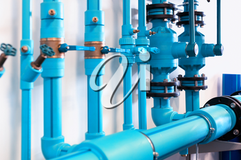 Pipes and valves of heating system