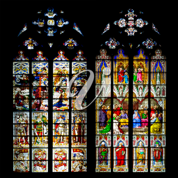 Stained glass windows  in the Cologne Cathedral