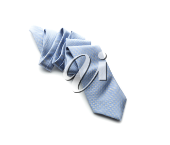 Light-blue necktie isolated on a white background
