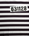 Striped dress for prisoners and number