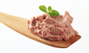 Liver pate on a wooden spoon