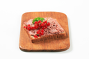Slice of bread and liver pate