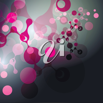 Vector molecules background.