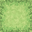Background, Pattern of Green Leafs and Outline Butterflies. Eps10, Contains Transparencies. Vector