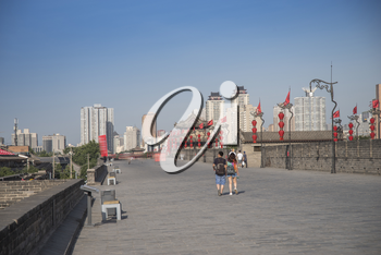 Xian city wall. The largest monument of Chinese architecture