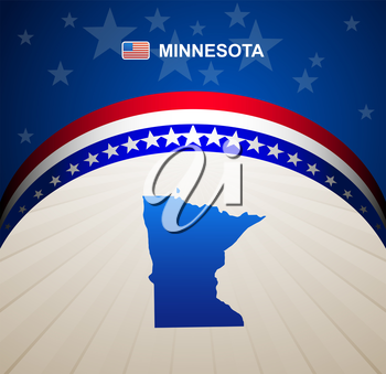 Minnesota map vector background