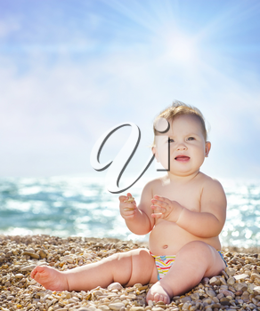 Baby on the beach