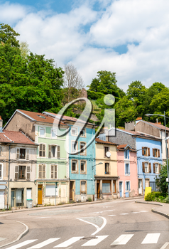 Typical french buildings in Epinal, the Vosges department of France