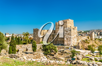 A Crusader castle in Byblos. UNESCO world heritage in Lebanon