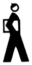 Royalty Free Clipart Image of a Man Carrying a Folder