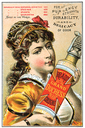 Royalty Free Photo of a Vintage Cologne Advertisement