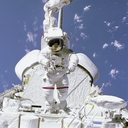 Royalty Free Photo of Bruce McCandles on the sts 41B