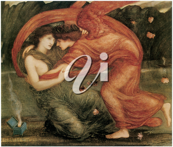 Royalty Free Clipart Image of The Lamentations by Edward Burne-Jones